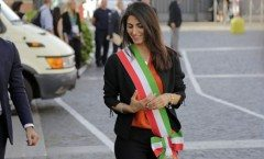Raggi arrivo con la Fascia Tricolore in Laterano